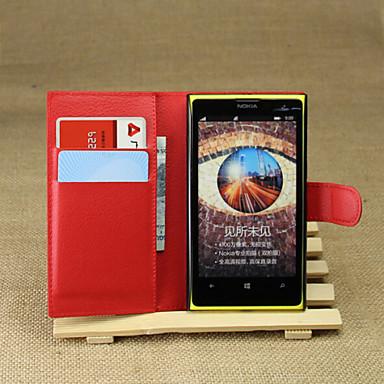 Για Θήκη Nokia Πορτοφόλι / Θήκη καρτών / με βάση στήριξης tok Πλήρης κάλυψη tok Μονόχρωμη Σκληρή Συνθετικό δέρμα Nokia Nokia Lumia 1020