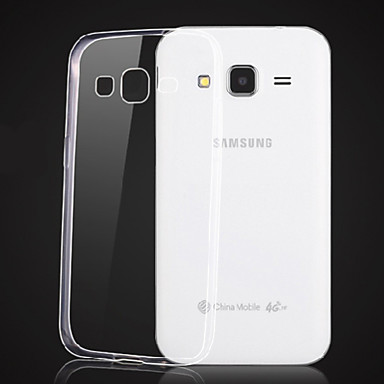 Capinha Para Samsung Galaxy Samsung Galaxy Capinhas Transparente Capa traseira Côr Sólida TPU para Core Prime