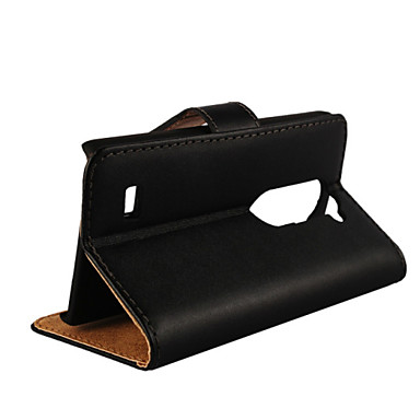 Voor LG hoesje Kaarthouder / Portemonnee / met standaard / Flip hoesje Volledige behuizing hoesje Effen kleur Hard PU-leer LG Leon
