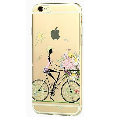 Para Capinha iPhone 5 Transparente Estampada Capinha Capa Traseira Capinha Mulher Sensual Macia TPU para iPhone SE/5s iPhone 5
