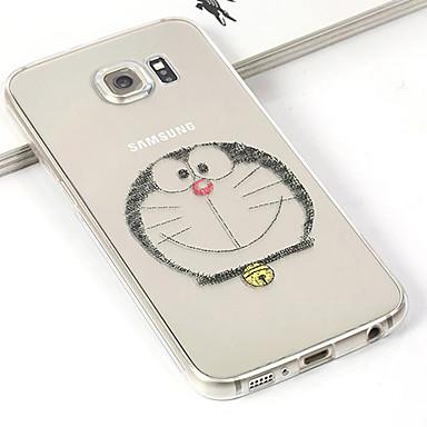 Para Samsung Galaxy Capinhas Case Tampa Transparente Com Relevo Capa Traseira Capinha Desenho Animado PUT para Samsung S6 edge