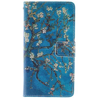 Para Samsung Galaxy Capinhas Porta-Cartão / Carteira / Com Suporte / Flip Capinha Corpo Inteiro Capinha Árvore Couro PU Samsung E7