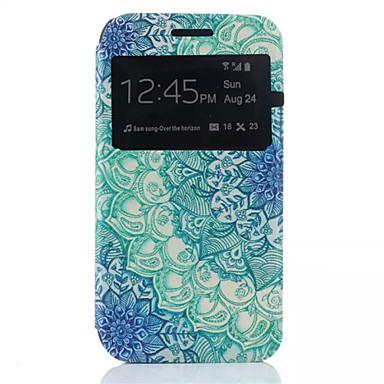 Para Samsung Galaxy Capinhas Com Suporte / com Visor / Flip Capinha Corpo Inteiro Capinha Flor Couro PU Samsung J1