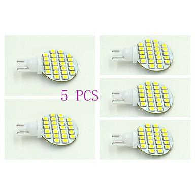 T10 Paneellampen 24 leds SMD 3528 Natuurlijk wit 100-120lm 5500-6000K DC 12V