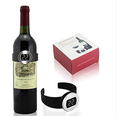 창조적 인 디자인 측정 레드 와인 자동 온도 와인 온도계