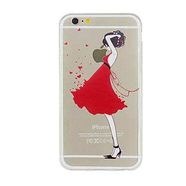 Voor iPhone 5 hoesje Transparant Patroon hoesje Achterkantje hoesje Sexy dame Zacht TPU voor iPhone SE/5s iPhone 5