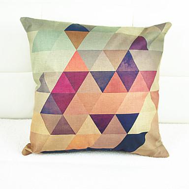 stk Linnen Kussensloop, Geometrisch Nieuwigheid Grafische prints Modern/Hedendaags Traditioneel /Klassiek Decoratief