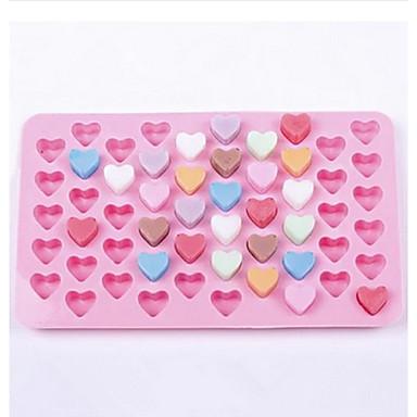 55 κοιλότητα της καρδιάς καλούπι σε σχήμα σιλικόνης τούρτα σοκολάτας μούχλα (τυχαία χρώμα)