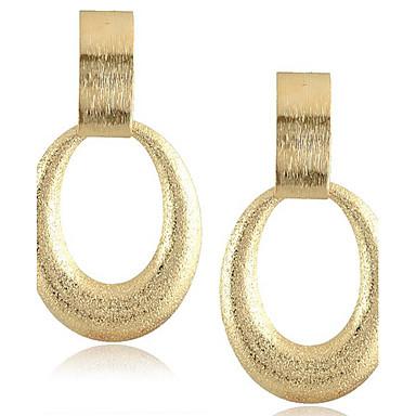Feminino Brincos Compridos Bijuterias Destaque Moda bijuterias Chapeado Dourado Liga Jóias Para