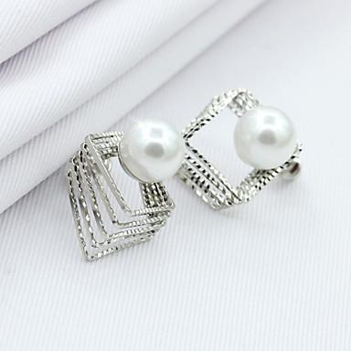 Dames Oorknopjes Kristal Modieus Europees Parel Imitatieparel Strass Verguld 18K goud Gesimuleerde diamant Oostenrijks kristal Sieraden