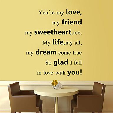 adesivos de parede adesivos de parede amor estilo inglês palavras&cita parede adesivos pvc