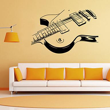 Romantiek Mode Vormen Cartoon Muziek Muurstickers Vliegtuig Muurstickers Decoratieve Muurstickers, PVC Huisdecoratie Muursticker Wand
