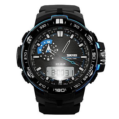 SKMEI Homens Digital Relógio de Pulso Relógio Esportivo Alarme Calendário Cronógrafo Impermeável Relógio Esportivo Dois Fusos Horários LCD