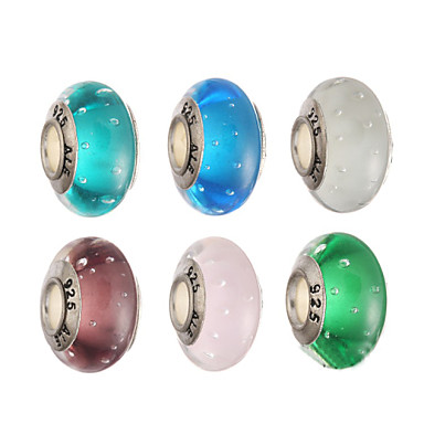 DIY sieraden 1Pcs stk sinkkiseos Glas Metaal Donkerblauw Koffie Groen Blauw Roze Round Shape Kraal 1 cm DIY Kettingen Armbanden