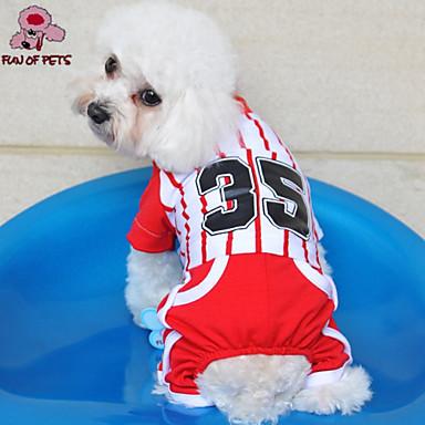 Hond Jumpsuits Shirt Hondenkleding Sport Streep Zwart Rood Blauw