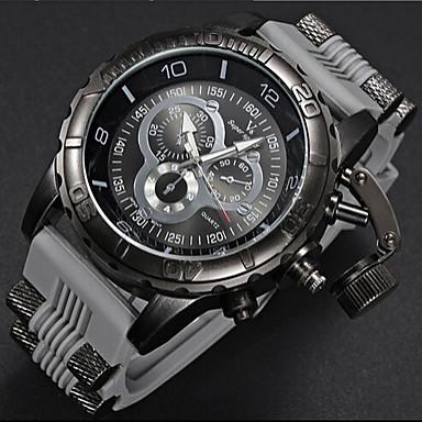levne Pánské-V6 Pánské Vojenské hodinky Japonské Quartz Pryž Černá / Bílá / Modrá Analogové Černá Šedá Modrá