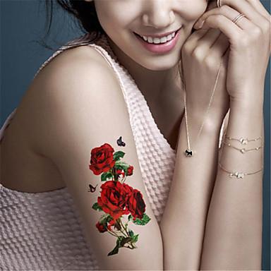 Tatoeagestickers Dieren Series Bloemen Series Non Toxic Waterproof Baby Kind Dames Girl Heren Volwassene Boy Tiener Tijdelijke tatoeage