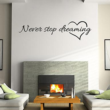 τοίχο αυτοκόλλητα τοίχου στυλ αυτοκόλλητα nerer σταματήσουμε να ονειρευόμαστε αγγλικές λέξεις&αναφέρει αυτοκόλλητα PVC τοίχο