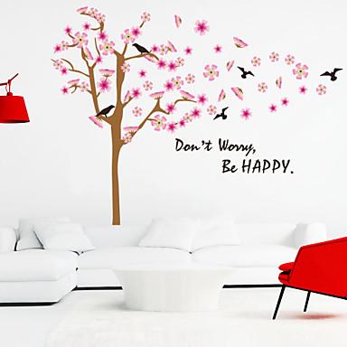 Decalque Autocolantes de Parede Decorativos - Etiquetas de parede de palavras e citações Animais Romance Moda Formas Floral Palavras e