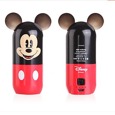 disney5200mah mickey mouse desenhos animados portátil bancária de energia móvel