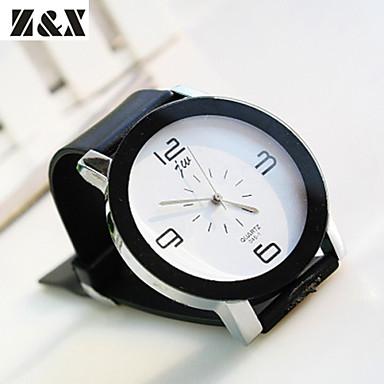 Mulheres Relógio de Moda Quartzo Relógio Casual PU Banda Elegant Preta