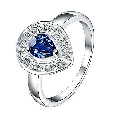 Gyűrűk Divat / Születési kövek Esküvő / Parti / Napi / Hétköznapi Ékszerek Arannyal bevont Női Vallomás gyűrűk 1db,7 / 8 Fehér