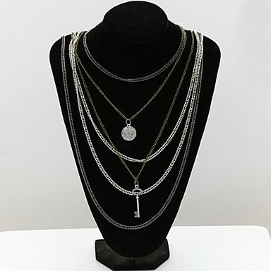 Feminino Fashion Europeu colares em camadas Cristal Imitações de Diamante 18K ouro Cristal Austríaco colares em camadas ,