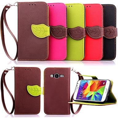 Para Samsung Galaxy Capinhas Porta-Cartão / Carteira / Com Suporte / Flip Capinha Corpo Inteiro Capinha Cor Única Couro PU SamsungYoung 2