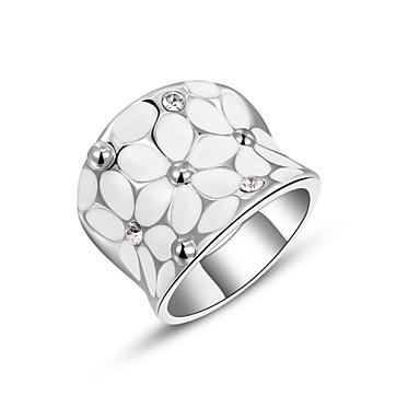Dames Statement Ring Goud Zilver Kubieke Zirkonia Legering Modieus Feest Kostuum juwelen