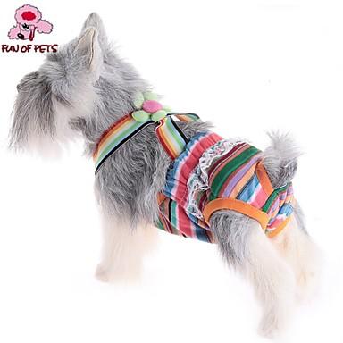 Kat Hond Broeken Hondenkleding Gestreept Willekeurige kleur Katoen Kostuum Voor huisdieren Cosplay Bruiloft