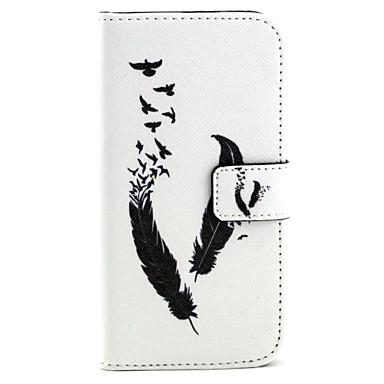 Недорогие Чехлы и кейсы для Galaxy S3-Кейс для Назначение SSamsung Galaxy S6 edge / S6 / S5 Кошелек / Бумажник для карт / со стендом Чехол Перья Кожа PU
