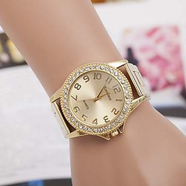 Dames Modieus horloge Kwarts Zwitsers Designer Legering Band Meerkleurig Zilver Gouden