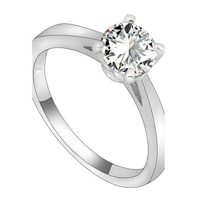 Γυναικεία Ζιρκονίτης Band Ring - Μοντέρνα Λευκό Δαχτυλίδι Για Γάμου Πάρτι Καθημερινά Causal Αθλητικά