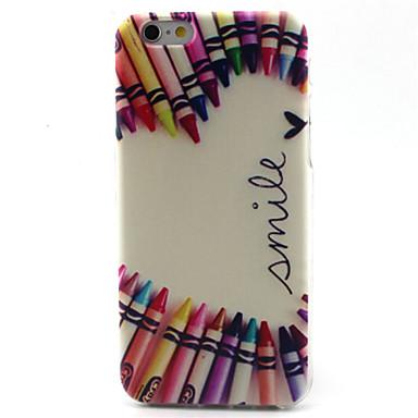 Para Capinha iPhone 6 Capinha iPhone 6 Plus Case Tampa Estampada Capa Traseira Capinha Desenho Animado Macia PUT para iPhone 6s Plus