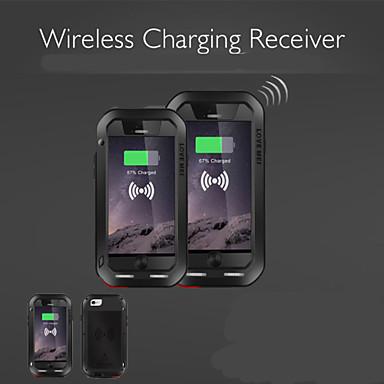 hou mei qi draadloos opladen ontvanger schokbestendige metalen behuizing voor de iPhone 6 plus