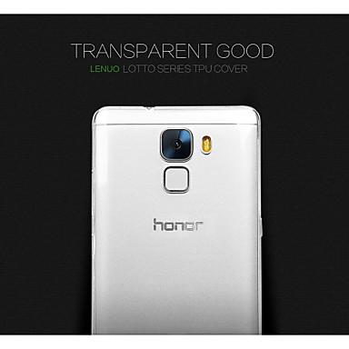 Para Capinha Huawei Case Tampa Cobertura Traseira Transparente Capa Traseira Capinha Côr Sólida Design Especial Macia PUT para Huawei