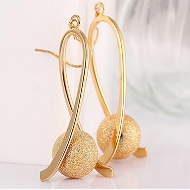Feminino Brincos Compridos bijuterias Chapeado Dourado Liga Caído Jóias Para