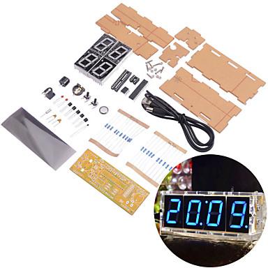 NEJE DIY Large Screen 4-Digit Blue LED Electronic Clock Kit