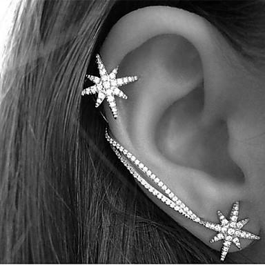 Γυναικεία Κρυστάλλινο Χειροπέδες Ear / Σκουλαρίκι - Στρας Stea Βίντατζ, Πάρτι, Γραφείο Χρώμα Οθόνης Για Καθημερινά