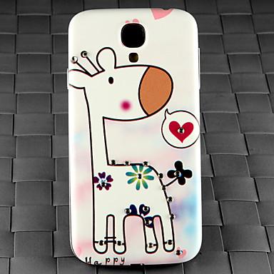 boor en een giraffe in de liefde patroon pc Cover Case voor Samsung Galaxy S4 / i9500