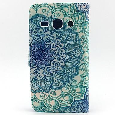 Capinha Para Samsung Galaxy Samsung Galaxy Capinhas Porta-Cartão Carteira Com Suporte Flip Capa Proteção Completa Mandala PU Leather para