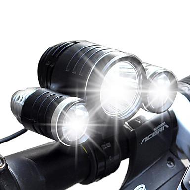 Luzes de Bicicleta LED Lumens 4.0 Modo Cree XM-L T6 Cree R2 18650.0 Recarregável Impermeável Campismo / Escursão / Espeleologismo Uso