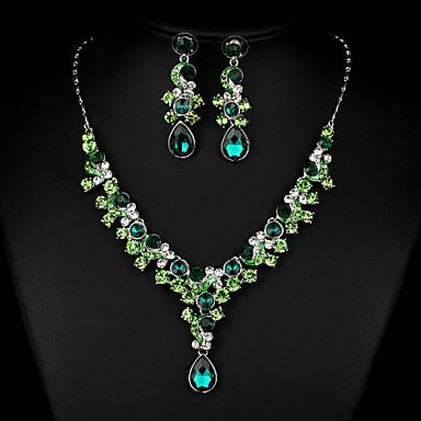 Damen Tropfen Luxus Retro Modisch Halsketten Multi-Stein Kubikzirkonia Halsketten . Hochzeit Verlobung Zeremonie