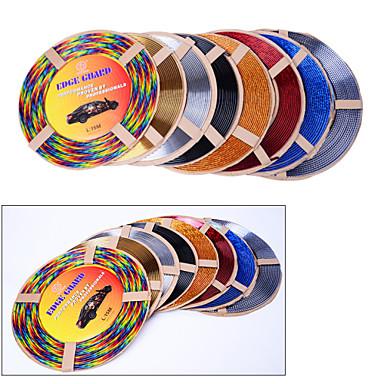 5 kleuren 4m / lot (volume) interieur diy auto airconditioner outlet vent grille chroom decoratie styling strip