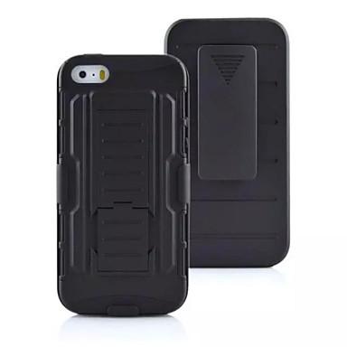 Para Capinha iPhone 5 Antichoque / Anti-poeira / Com Suporte Capinha Capa Traseira Capinha Armadura Rígida PC para AppleiPhone 7 Plus /