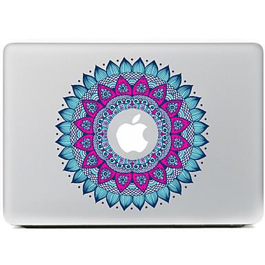 ronde bloem 1 decoratieve skin sticker voor MacBook Air / Pro / Pro met Retina-display
