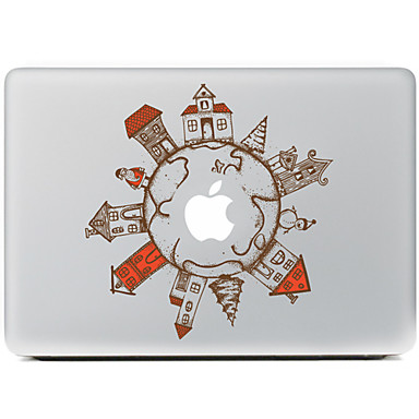 de global village decoratieve skin sticker voor MacBook Air / Pro / Pro met Retina-display