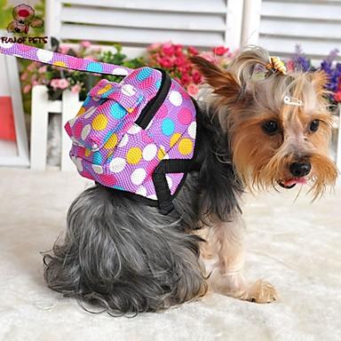 Cachorro mochila Bonitinho e fofinho Poá Tecido Roxo Marron Vermelho Azul