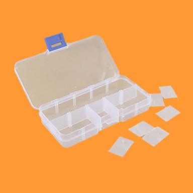 10 zăbrele caseta cutie cutie de plastic caseta singur șurub componente electronice caseta caseta de bijuterii