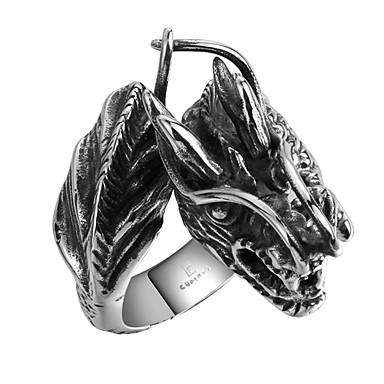 للرجال خاتم مخصص الفولاذ المقاوم للصدأ الصلب التيتانيوم جمجمة مجوهرات الهالووين يوميا فضفاض الرياضة